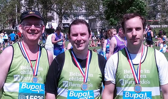TVI staff run BUPA 10k in aid of Barnardo's